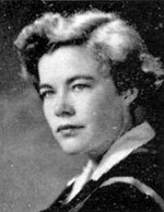 Black and white graduation photo of Mary Elizabeth Skeith