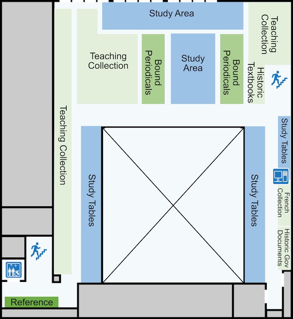 Education second level floor plan