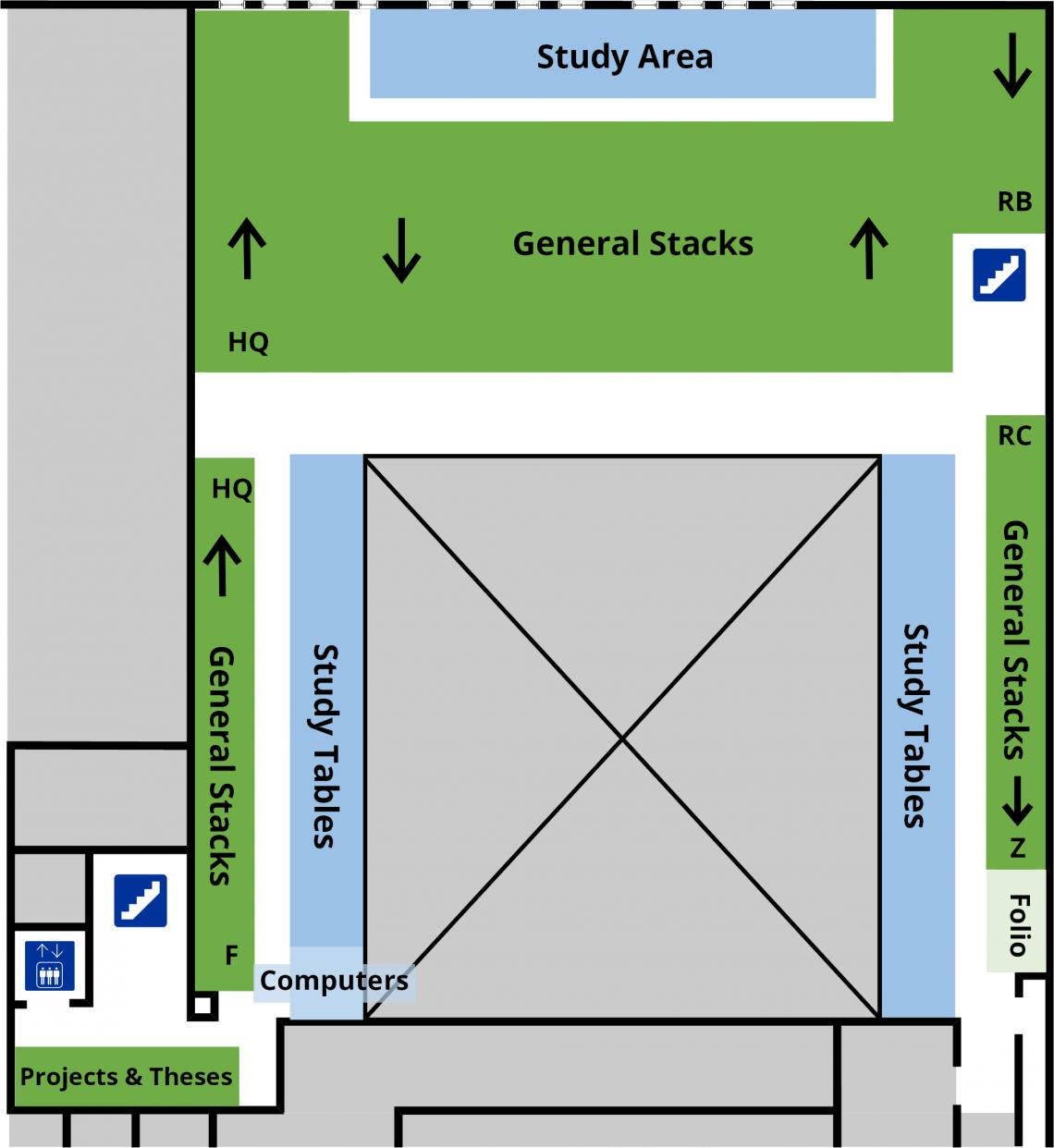 Education Library third level floor plan