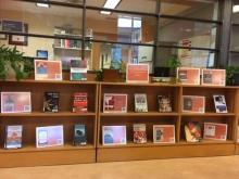 Book display at the Lederman Law Library