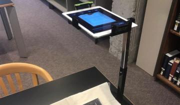 A book being scanned
